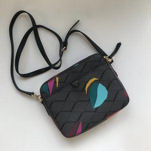 FOSSIL Elle Crossover Handbag Grey Print